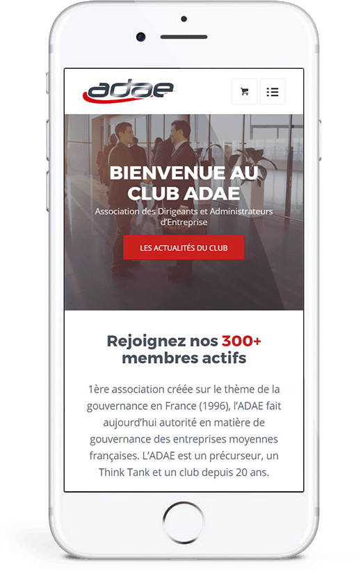Site responsive mobile ADAE par blindesign