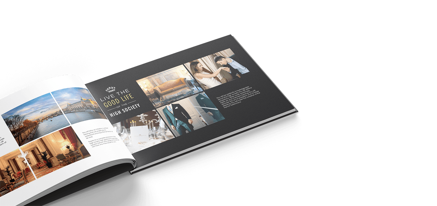Print brochure/catalogue France Prestige Institute par blindesign