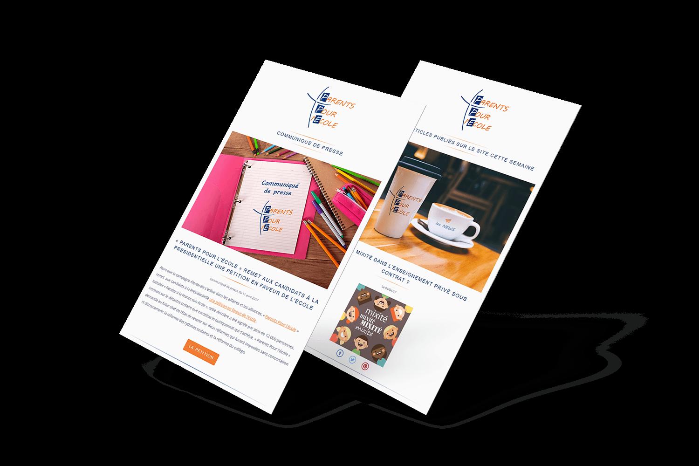 Workflow & e-mailing Parents Pour l'Ecole par blindesign