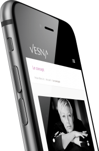 Site responsive mobile Vesna Nail Bar & Beauty par blindesign