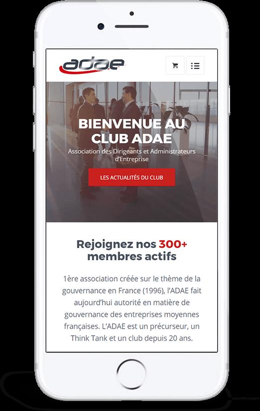 Site responsive mobile ADAE par blindesign