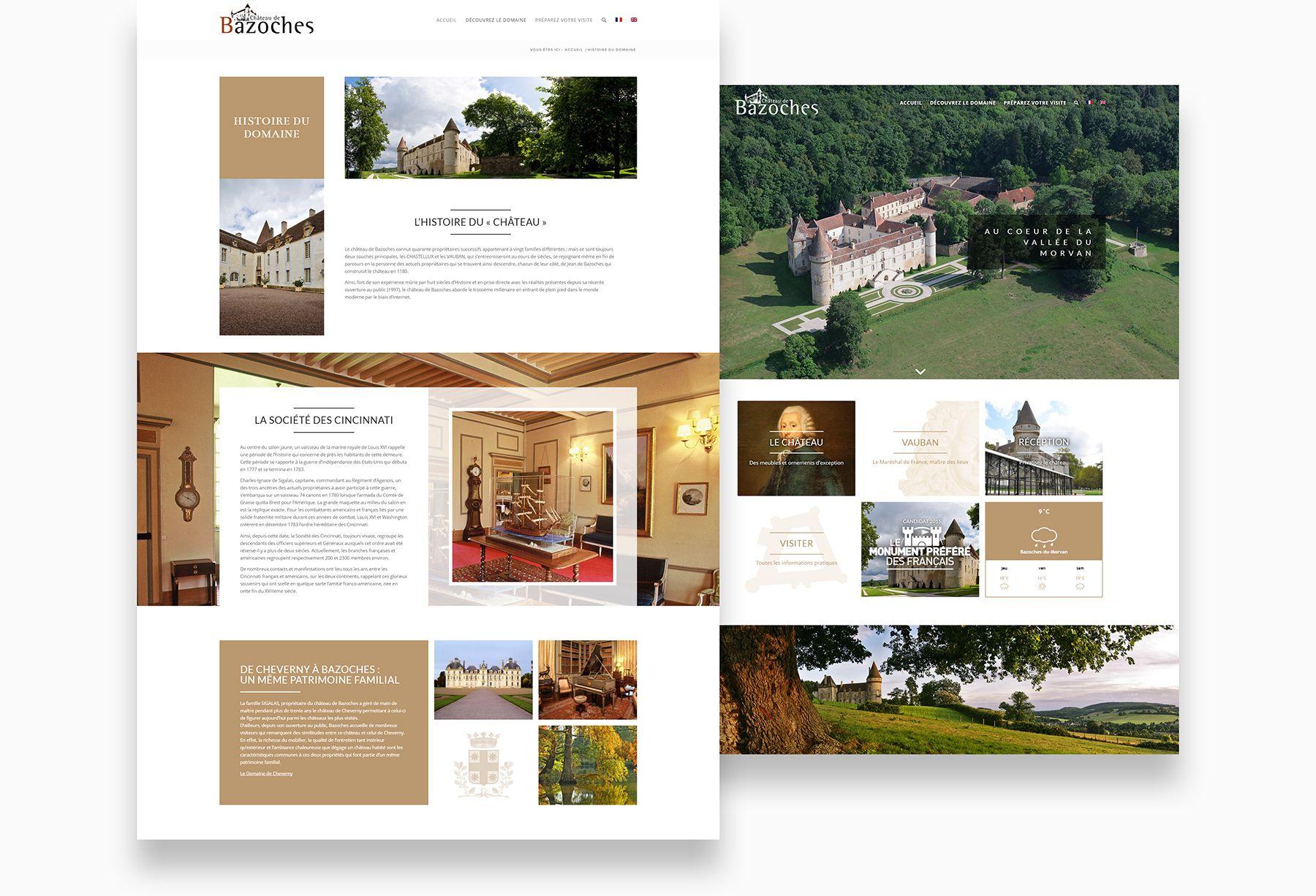Web/UX design Château de Bazoches par blindesign