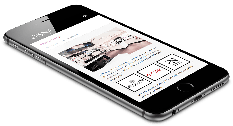Site responsive mobile Vesna Nail Bar & Beauty par blindesign